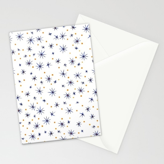 blue mattisse cards (x3)