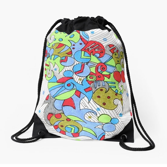 barcelonetta drawstring bag