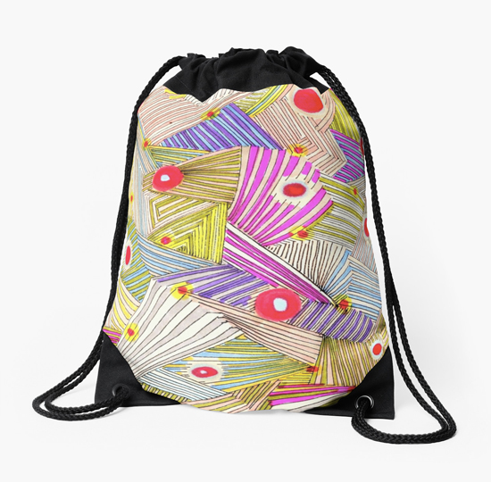 happenstance drawstring bag