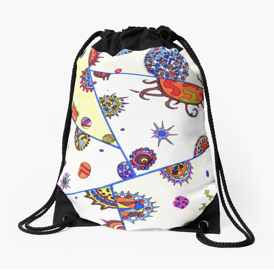 kasshoku drawstring bag