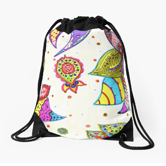 pinku drawstring bag