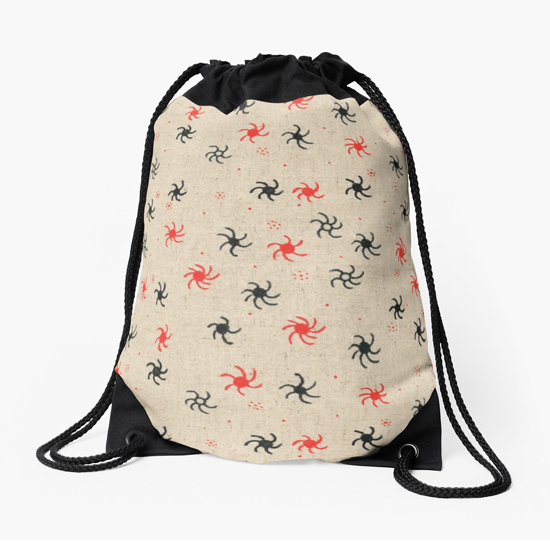 pinwheel drawstring bag