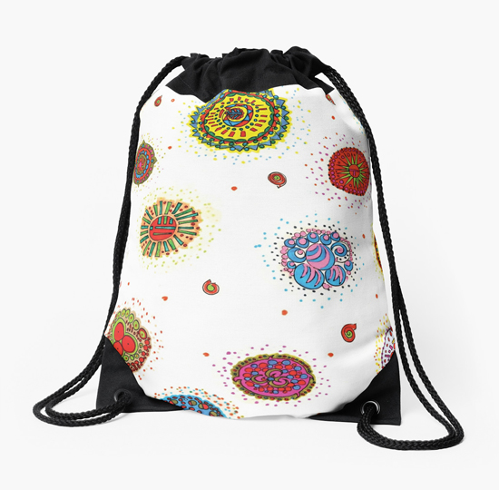 seventh star drawstring bag