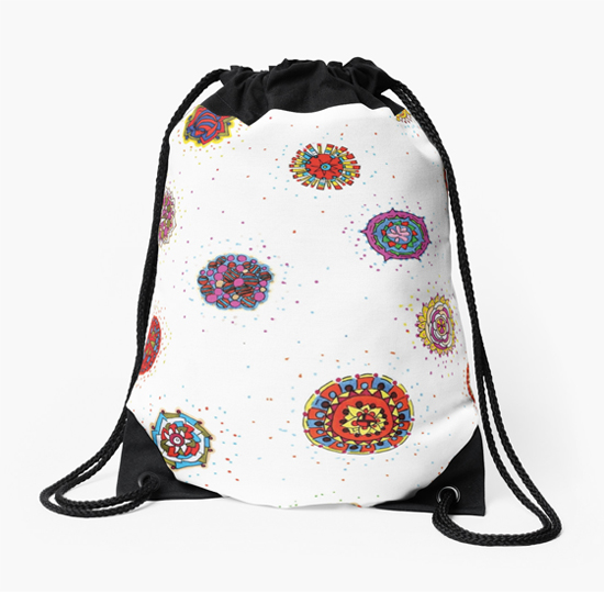 snap dragon drawstring bag