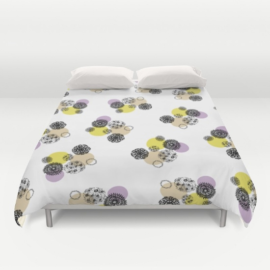 september snow duvet cover