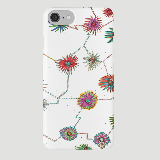 travelling daisy iphone case