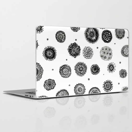 september snow laptop skin