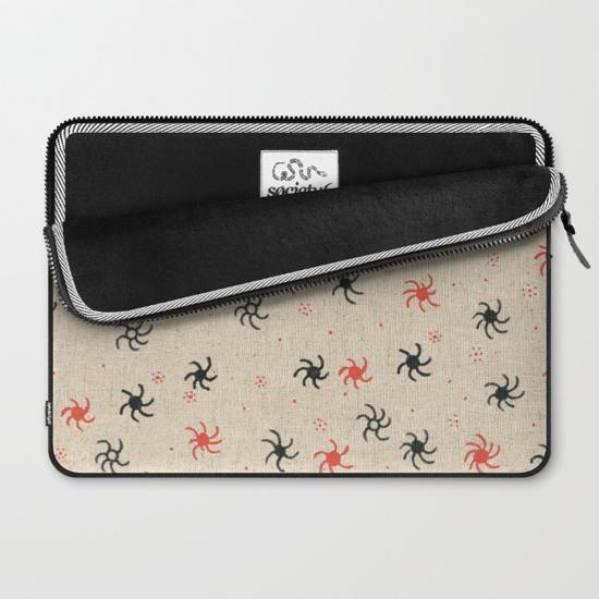pinwheel laptop sleeve