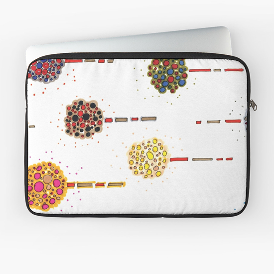 sea holly laptop sleeve