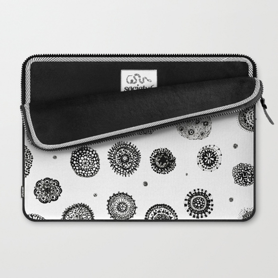 september snow laptop sleeve