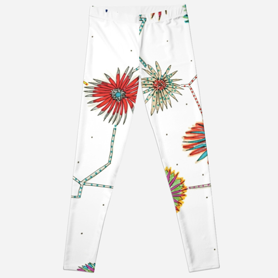travelling daisy leggings