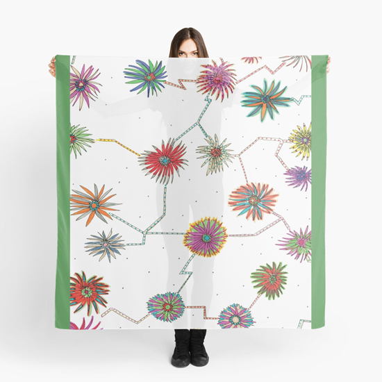 travelling daisy scarf