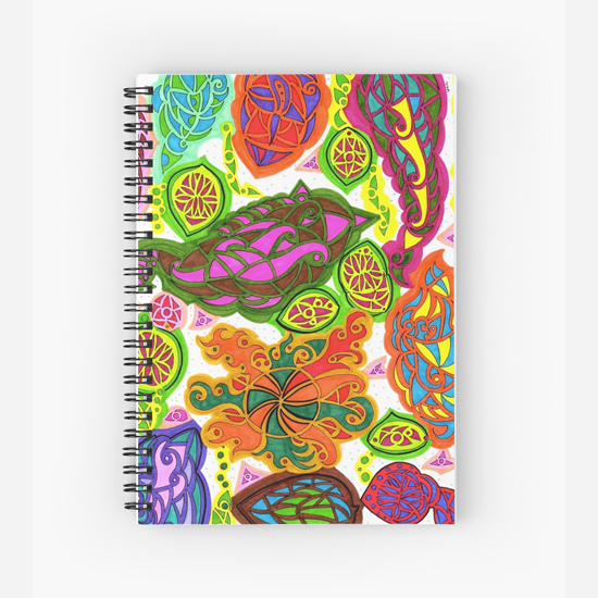 aubergine spiral notebook