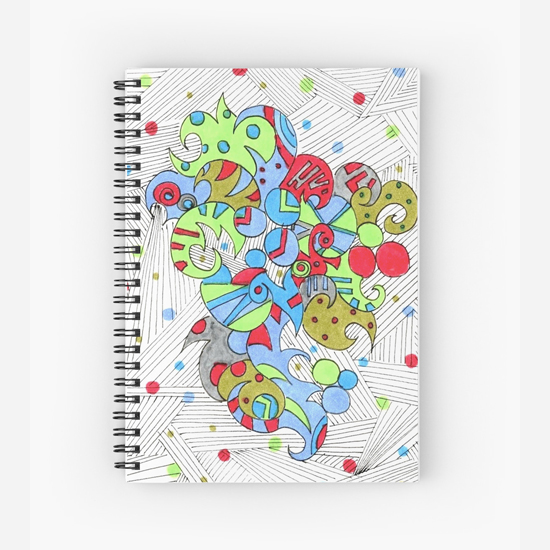 barcelonetta spiral notebook