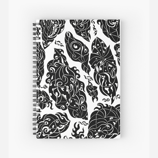 in sweden spiral notebook
