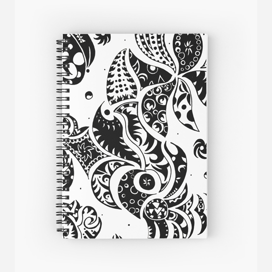 les friezes spiral notebook