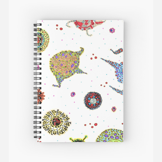 rozu spiral notebook