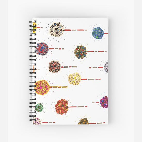 sea holly spiral notebook