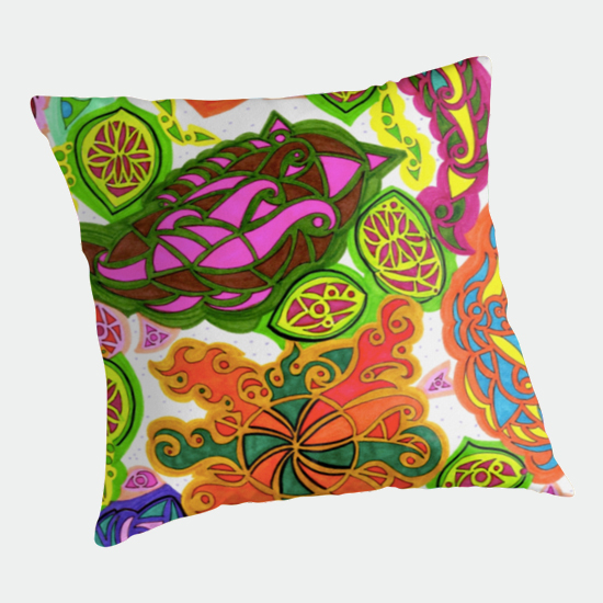 aubergine throw pillow