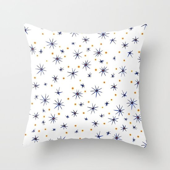 blue mattisse throw pillow
