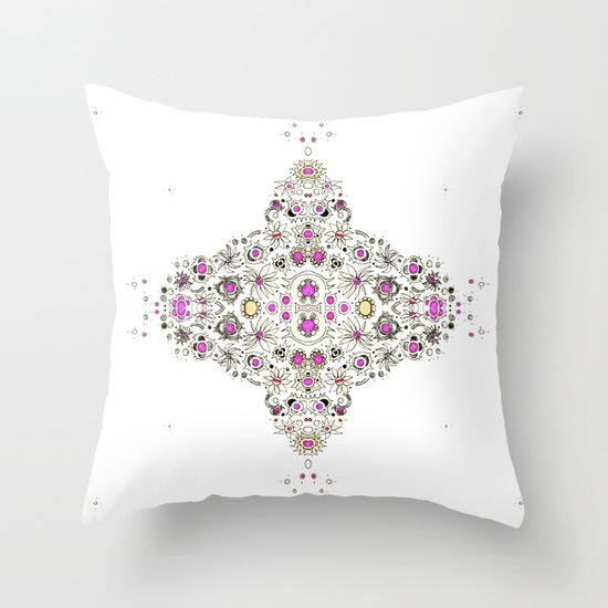 coastal pink throw pillow