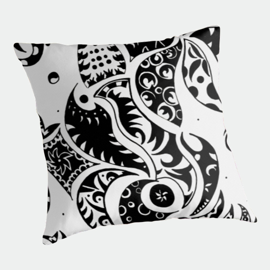 les friezes throw pillow