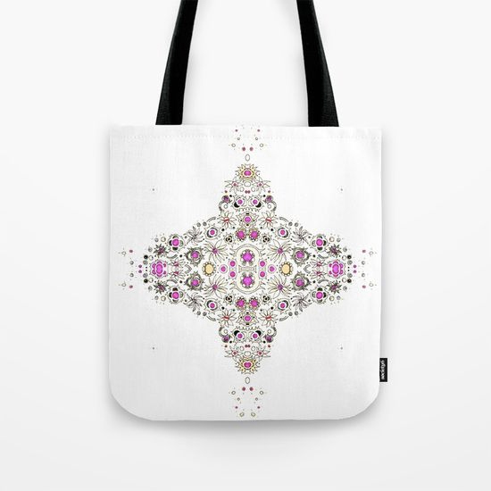 coastal pink tote bag