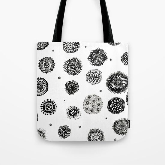 september snow tote bag