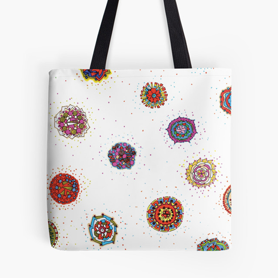 snap dragon tote bag