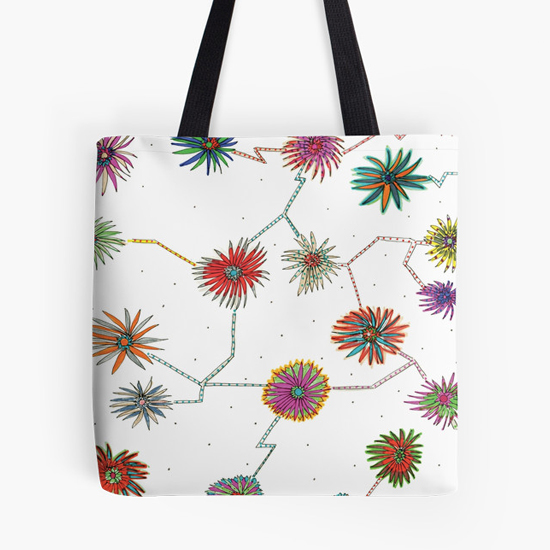 travelling daisy tote bag