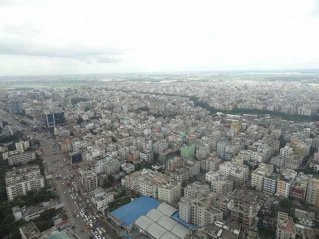 Dhaka, the capital city of Bangladesh is one of the most densely populated cities in the world. Finding space to expand the garment sector safely is a challenge. Photo credit Bishawjit Das.