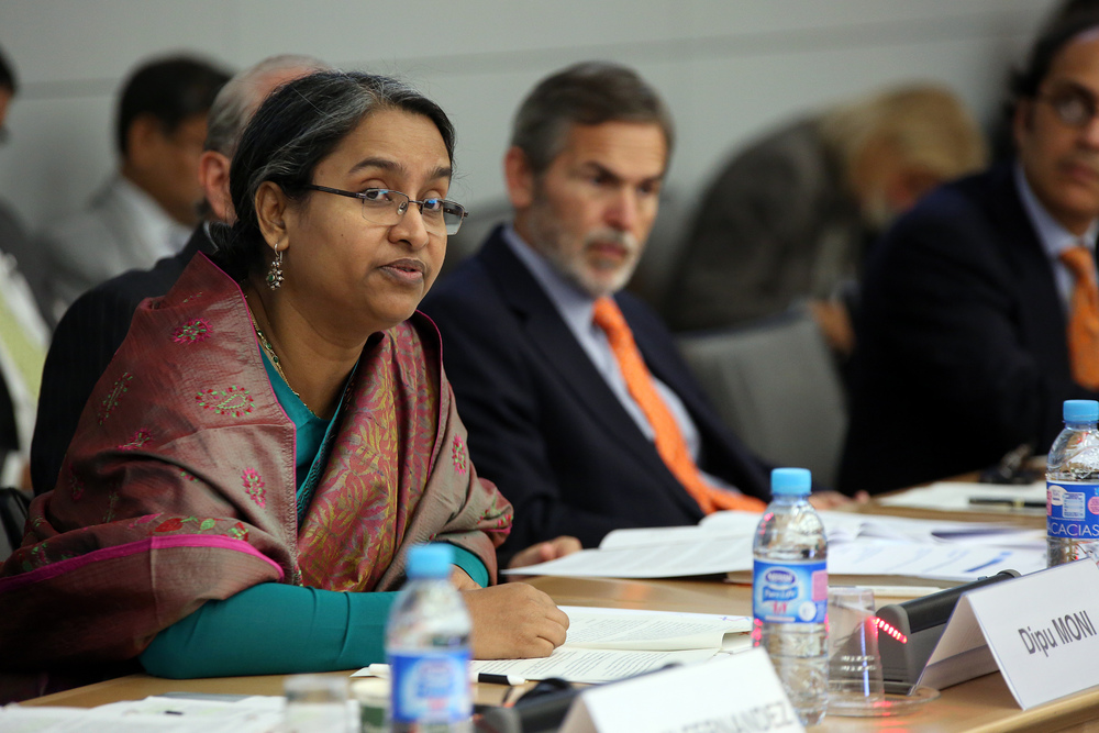 Then-Foreign Minister Dipu Moni at the OECD Forum on Responsible Business Conduct, June 26, 2013 (OECD/Herve Cortinat)