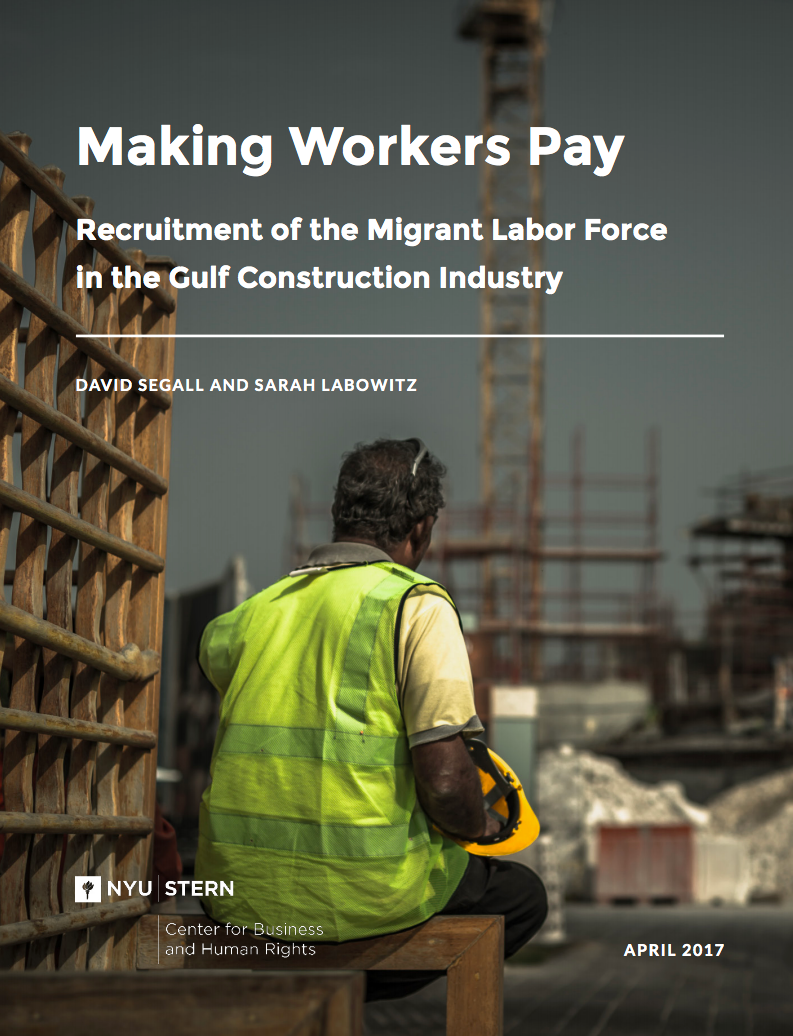 The study examines the recruitment practices faced by migrant laborers working in the construction industry in the Arabian Gulf.