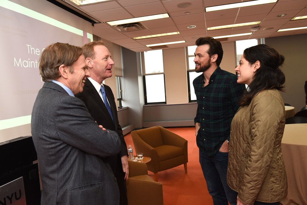 Brad Smith, President and Chief Legal Officer at Microsoft speaks with students at NYU Stern