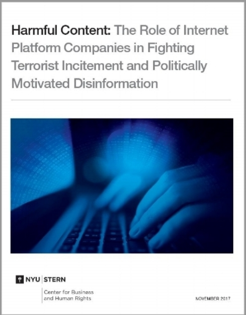 Harmful Content: The Role of Internet Platform Companies in Fighting Terrorist Incitement and Politically Motivated Disinformation