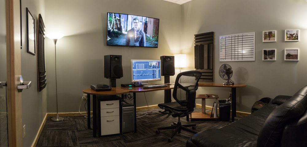 One of our editing suites. Recognize the Mini Movie on the display?