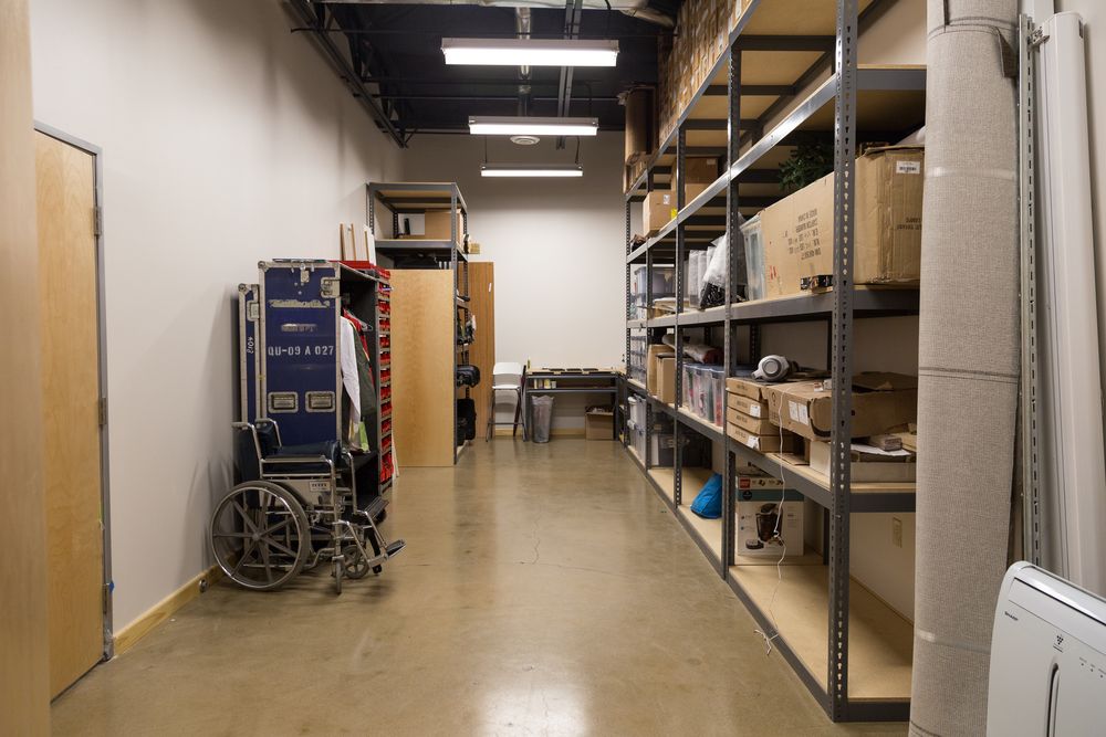 This is another one of our faves. The gear closet/prop closet/workshop. Everything has a place and everything is in it's place. Eventually.