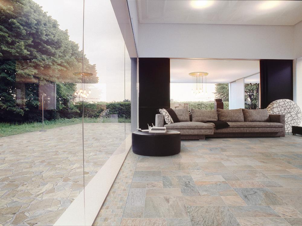 El piso cerámico puede utilizarse tanto en interiores como en exteriores.