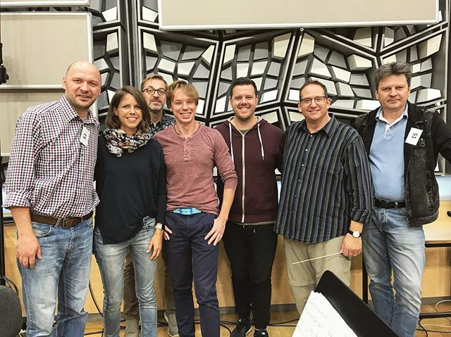 After 6 sessions, 2 overtime sessions, and multiple overdubs...we are done recording the score to Rock 'n Roll Eddie!! Music team was on fire, both in LA and in Prague!!