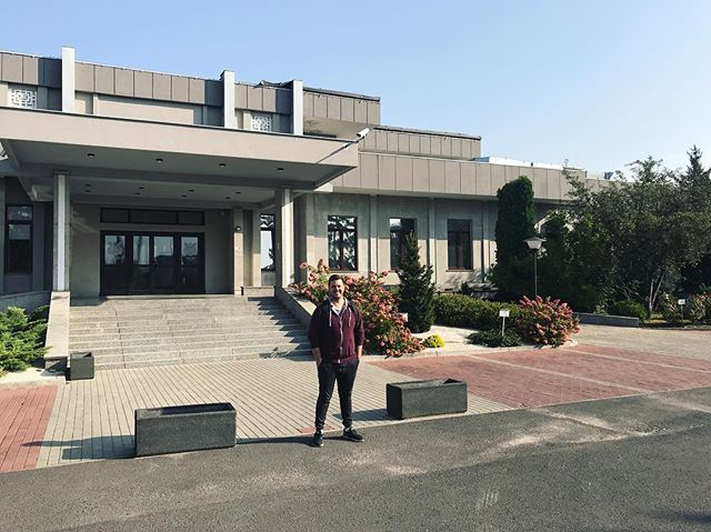 Standing at the old North Korean Embassy...which is now a post production facility! Pretty funny for it to now be a mecca of cinema, art, and culture.  Mixing Rock 'n Roll Eddie in Dolby Atmos!