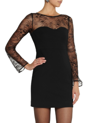 Deraphine lace-paneled jersey dress £104.50 @The Outnet  I hope that gives you a few ideas if you have any fancy parties on the horizon. If you need me, I will be searching out some appropriate heels now...  Meg xx