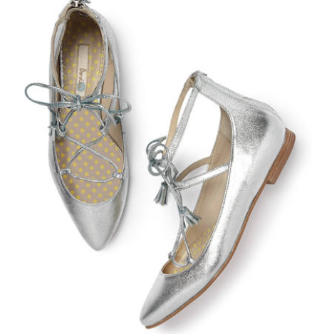 Even Boden are in on the act with their Lille Lace-Up Point £89 in orange, navy and silver