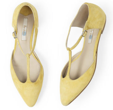 Flat T-Bar Point at Boden in yellow, silver, navy and black £69