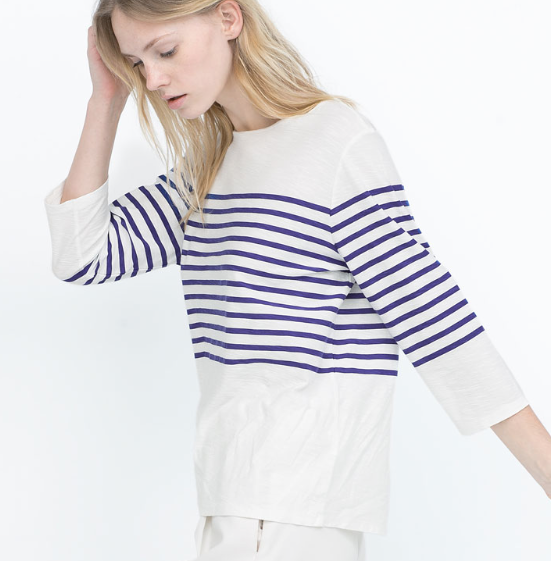 Zara Striped Cotton T Shirt £15.99