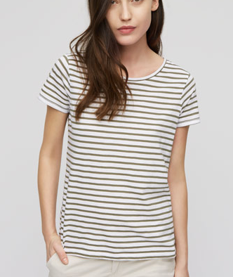 Jigsaw Green Slub Stripe T-Shirt £29