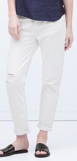 Ripped Boyfriend Jeans at Zara £29.99