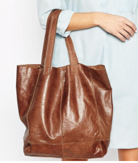 Really want to see this one in the flesh. Such a perfect shade of tan for this season and looks as if it would age perfectly too. Oasis Unlined Leather Shopper at Asos £38 (genuine leather and inner sip pockets!).