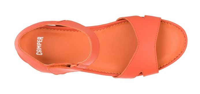 Camper Micro Platform £110 in orange, grey, red, navy and black