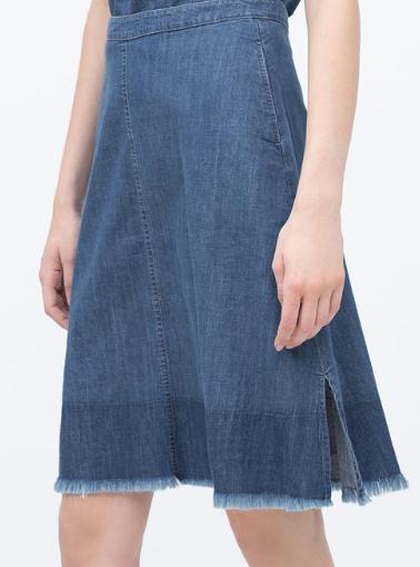 Zara Mid-Length Frayed Skirt £29.99