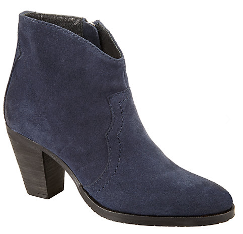 John Lewis Blue Suede Ankle Boots £89